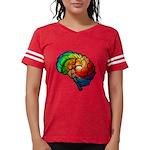 Neurodiversity Rainbow Brain Football T-Shirt