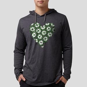 Ace Shamrock Heart Mens Hooded Shirt
