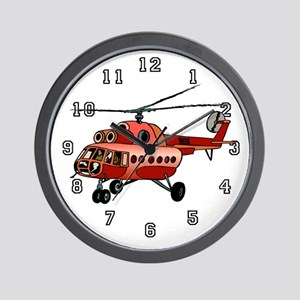 Helicopter Pilot Wall Clock