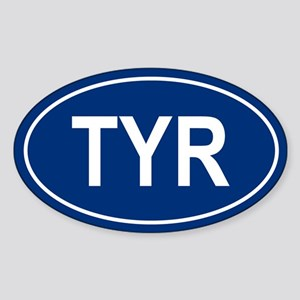 TYR Oval Sticker