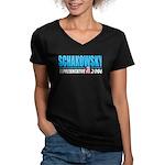 Schakowsky 2008 Women's V-Neck Dark T-Shirt