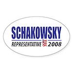 Schakowsky 2008 Oval Sticker