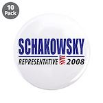 """Schakowsky 2008 3.5"""" Button (10 pack)"""