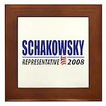 Schakowsky 2008 Framed Tile