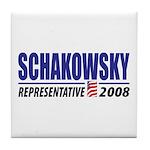 Schakowsky 2008 Tile Coaster