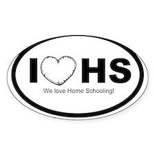 I love homeschooling Oval Sticker