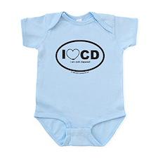 I'm cloth diapered! Infant Creeper