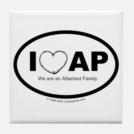 We Love AP Tile Coaster