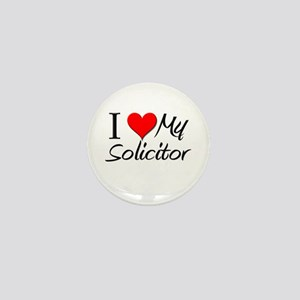 I Heart My Solicitor Mini Button