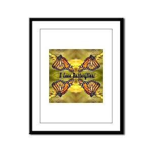 I Love Butterflies Framed Panel Print