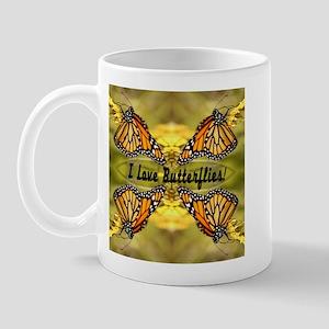 I Love Butterflies Mug