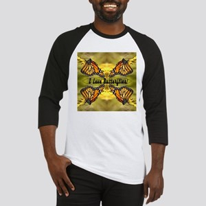 I Love Butterflies Baseball Jersey