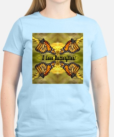 I Love Butterflies Women's Light T-Shirt