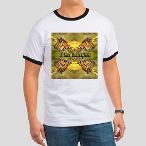 I Love Butterflies Ringer T