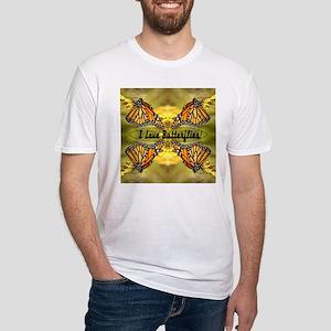 I Love Butterflies Fitted T-Shirt