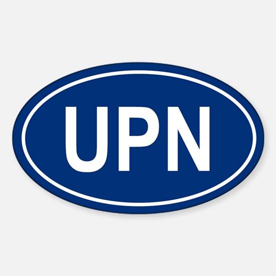 UPN Oval Decal
