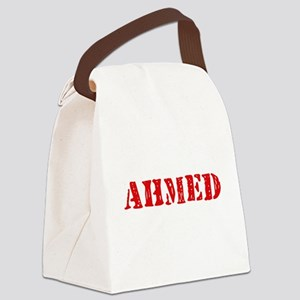 Ahmed Rustic Stencil Design Canvas Lunch Bag
