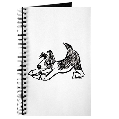 Dog Playing With Ball Journal