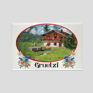 Swiss Gruetzi Rectangle Magnet