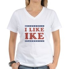 I Like Ike Women's V-Neck T-Shirt