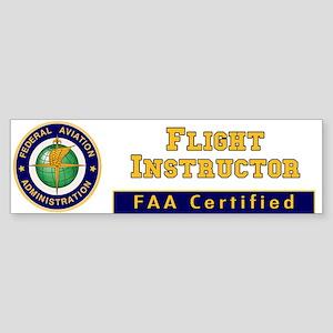 FAA Certified Flight Instructor Bumper Sticker