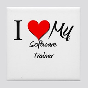 I Heart My Software Trainer Tile Coaster