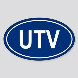 UTV Oval Sticker