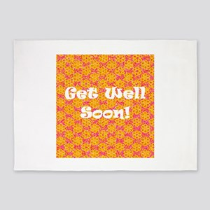 Get Well Soon Recuperate 4Delia 5'x7'Area Rug