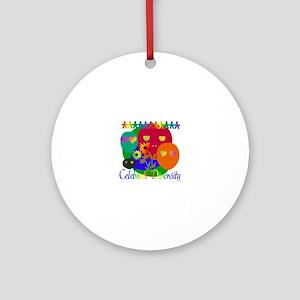 Celebrate Diversity Round Ornament