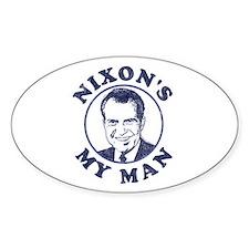 Nixon's My Man T-Shirt Oval Sticker