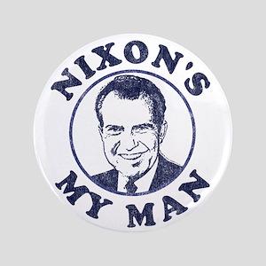 "Nixon's My Man T-Shirt 3.5"" Button (100 pack)"