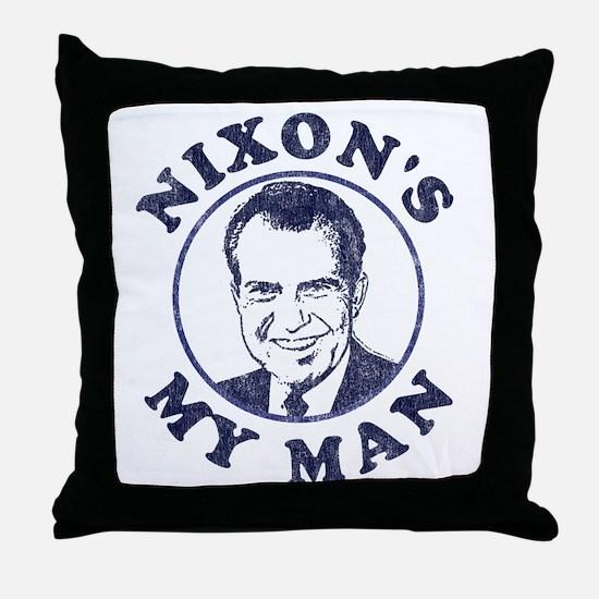 Nixon's My Man T-Shirt Throw Pillow