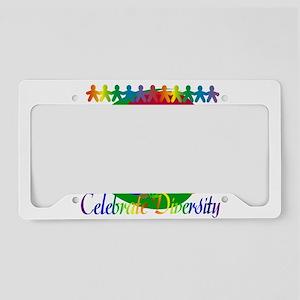 Celebrate Diversity License Plate Holder
