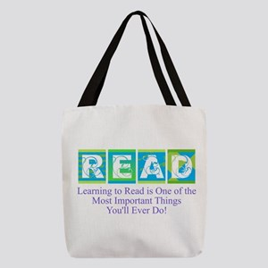 Learn to Read Polyester Tote Bag