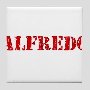 Alfredo Rustic Stencil Design Tile Coaster