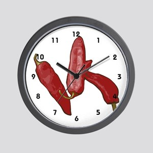 Red Chili Pepper Chef Wall Clock