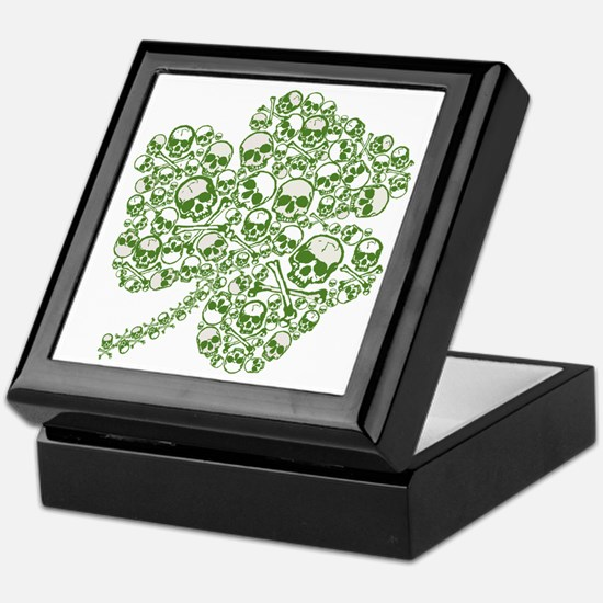 Shamrock Skull St Patricks Day Keepsake Box