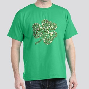 Shamrock Skull St Patricks Day Dark T-Shirt