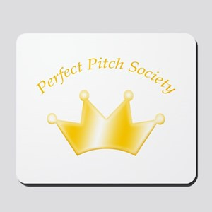 Perfect Pitch Society Gold Crown Mousepad