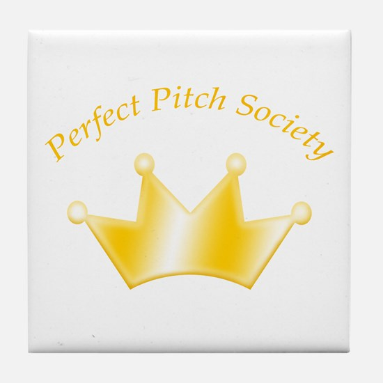 Perfect Pitch Society Gold Crown Tile Coaster