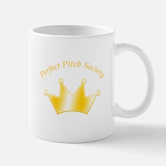 Perfect Pitch Society Gold Crown Mug