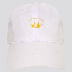 Perfect Pitch Socety Gold Crown White Cap