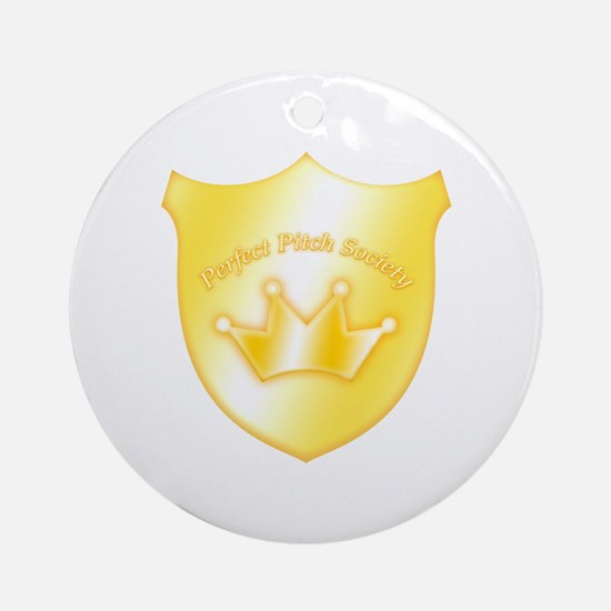 Perfect Pitch Socety Badge Ornament (Round)