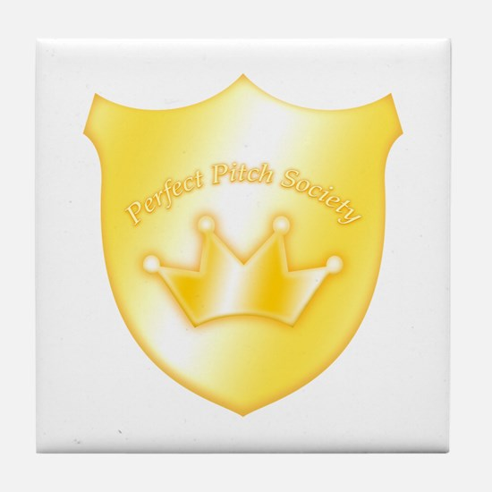 Perfect Pitch Socety Badge Tile Coaster