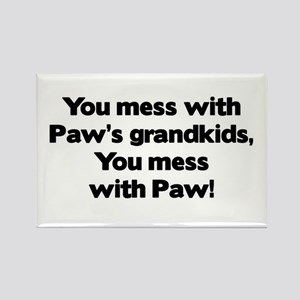 Don't Mess with Paw's Grandkids! Rectangle Magnet