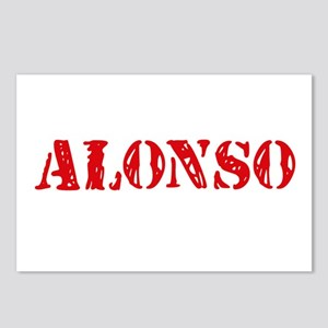 Alonso Rustic Stencil Des Postcards (Package of 8)
