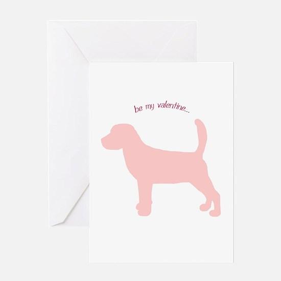 Beagle... Be My Valentine Greeting Card