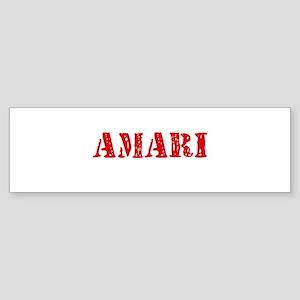 Amari Rustic Stencil Design Bumper Sticker
