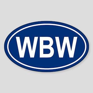 WBW Oval Sticker