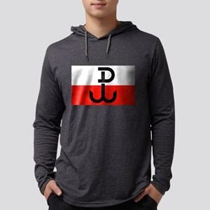 Polish Resistance Flag Long Sleeve T-Shirt